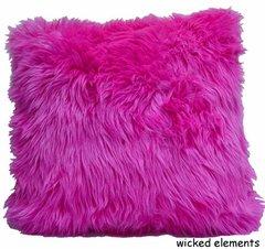 Hot Pink Faux Fur Pillow (large)