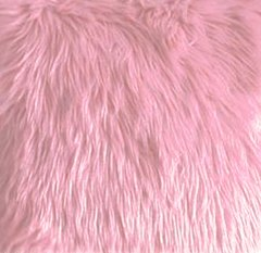 Faux Fur Pink  Fabric