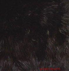 Faux Fur Black Fabric