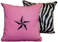 Zebra Nautical Star Pillow Set