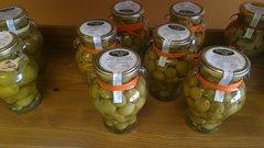 Orange Stuffed Olives Manzanilla
