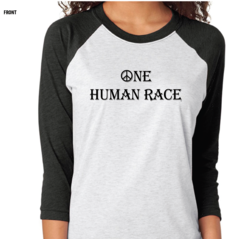 One Human Race T-Shirt - 3/4 sleeves