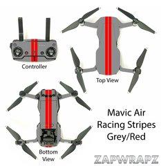 DJI Mavic Air Racing Stripes Grey/Red