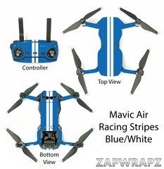 DJI Mavic Air Racing Stripes Blue/White