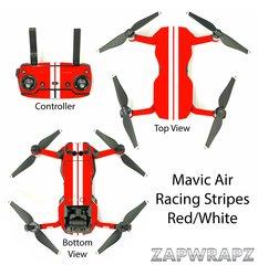 DJI Mavic Air Racing Stripes Red/White