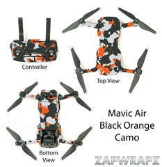 DJI Mavic Air Black Orange Camo