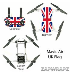 DJI Mavic Air UK Flag with white arms