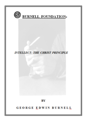 INTELLECT: THE CHRIST PRINCIPLE