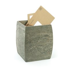 Slate Wastebasket Stone Trashcan