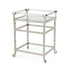 Modern Bar Cart in Silver Metal