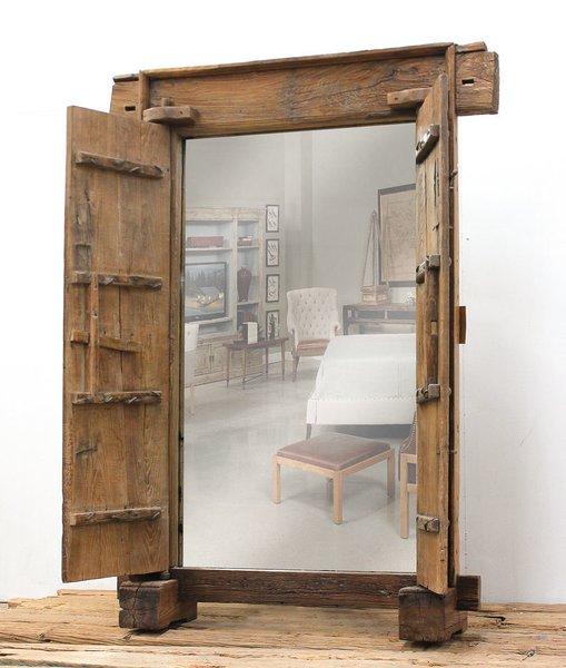 Antique door mirror tall floor castle martelle for 6 foot floor mirror