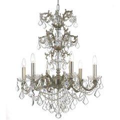 Chandelier Swarovski Baroque Silver Antique Finish