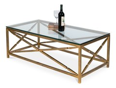 Rectangular Coffee Table w/ Notched Stretcher Detail