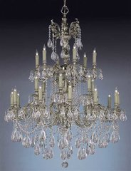 CRYSTORAMA NOVELLA 24 LIGHT CLEAR #SWAROVSKI STRASS CRYSTAL CHANDELIER New Free Shipping