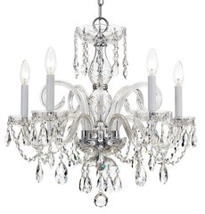 Swarovski Crystal Chandelier Traditional Lighting 5 Light