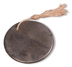 Round Cheese Board Stone in Blue Burlap