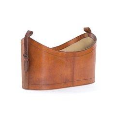 Leather Magazine Basket Storage Free Ship
