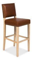 Barstool Casual in Brown & Whitewash Finish