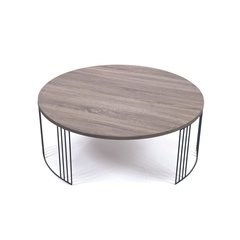Grey Coffee Table Modern Round