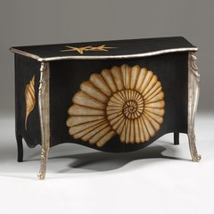 Rivera Credenza Hand Painted Shell Motif