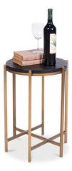 Contemporary Side Table w/ Black Leather Top