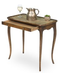 Cabriole Table with Tray in Antique Pine