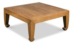 Asian Coffee Table Vintage Reclaimed Pine Wood