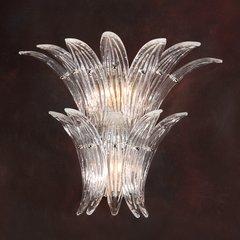 Showgirl Sconce Venetian Glass Clear