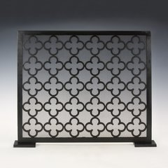Moroccan Fireplace Screen Antiqued Black Iron