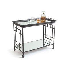 Art Deco Bar Cart w/ Wheels
