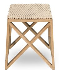 Spanning Stool with Woven Fabric Top