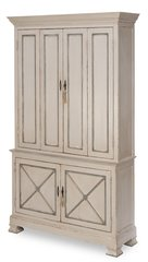 Painted Director Style Cabinet