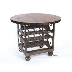 Wine Cellar Table Storage Free Ship Steel Reclaimed Wood