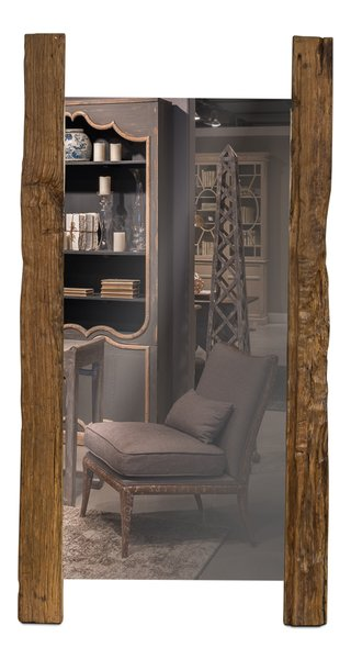 Beam floor mirror reclaimed wood over 6 39 tall martelle for 6 foot floor mirror