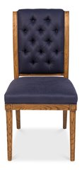Side Chair in Indigo Linen Set of 2