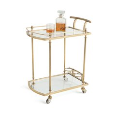Glam Bar Cart Art Deco in Gold