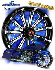 161h. Coastal Moto Fuel Front & Rear Wheel Package for Harley Davidson