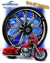 161n. Coastal Moto Vegas Front & Rear Wheel Package for Harley Davidson