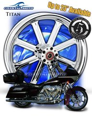 161w.  Coastal Moto Titan Front Wheel Package for Harley Davidson