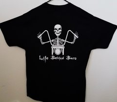 "080B2. Ginz Choppers OG ""Life Behind Bars"" (White) - Hanes Men's Tee"