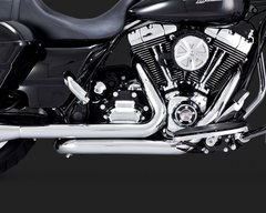 110c1.  Vance & Hines Dresser Duals Head Pipes for HD Touring