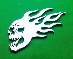 """070a8. Burning Skull - 4-3/4"""""""