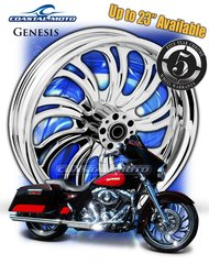 161v. Coastal Moto Genesis Front & Rear Wheel Package for Harley Davidson