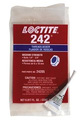 Loctite 242 - Medium Strength (Blue) Thread Locking Fluid (.5 ml)