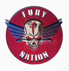 "070b1b. - 5"" Fury Nation Emblem ONLY - Fury Skull Wing sold separately"