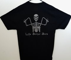 "080B3. Ginz Choppers OG ""Life Behind Bars"" (Charcoal) - Hanes Men's Tee"