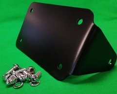 130C5. Ginz Choppers Horizontal License Plate Holder - Black or Chrome