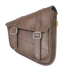 063B4. Willie & Max Swing Arm Bag - vintage brown (right side)