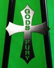 """070b1. God's Fury Cross - 3-1/2"""""""