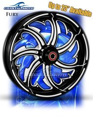 161j. Coastal Moto Fury Front & Rear Wheel Package for Harley Davidson